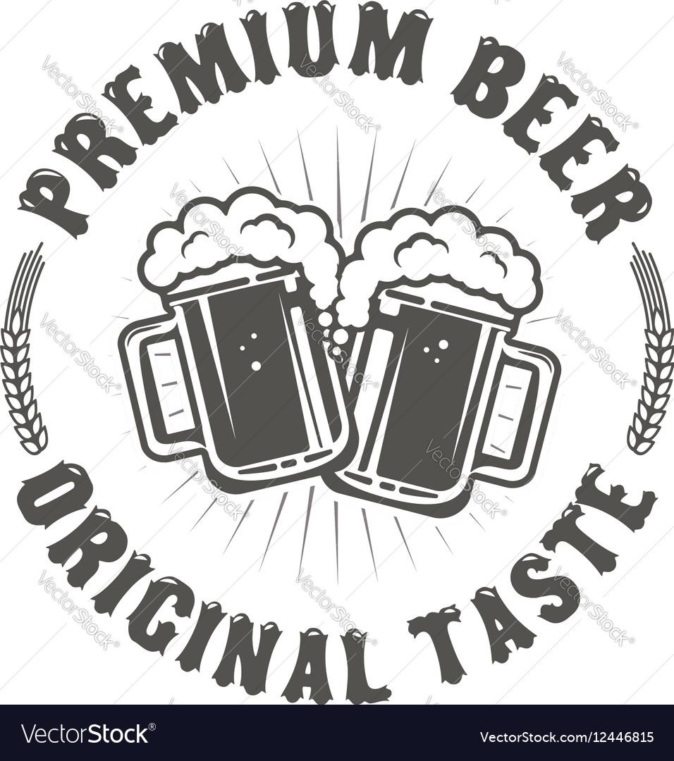 Best Beer Vintage craft beer retro design element