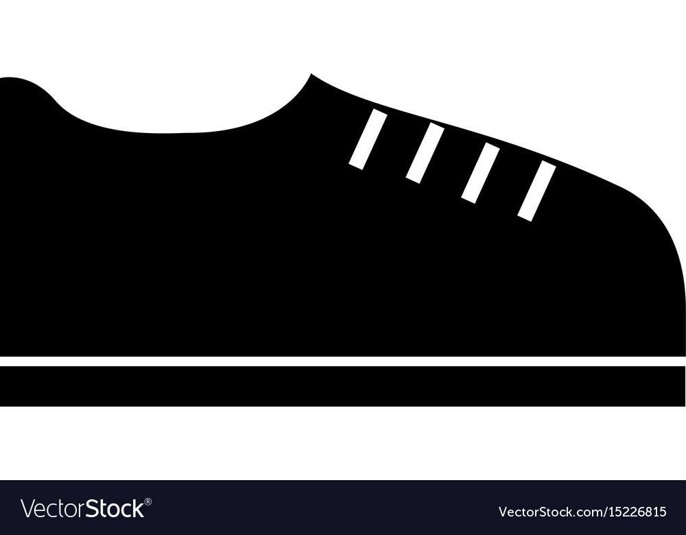 Black icon shoe cartoon