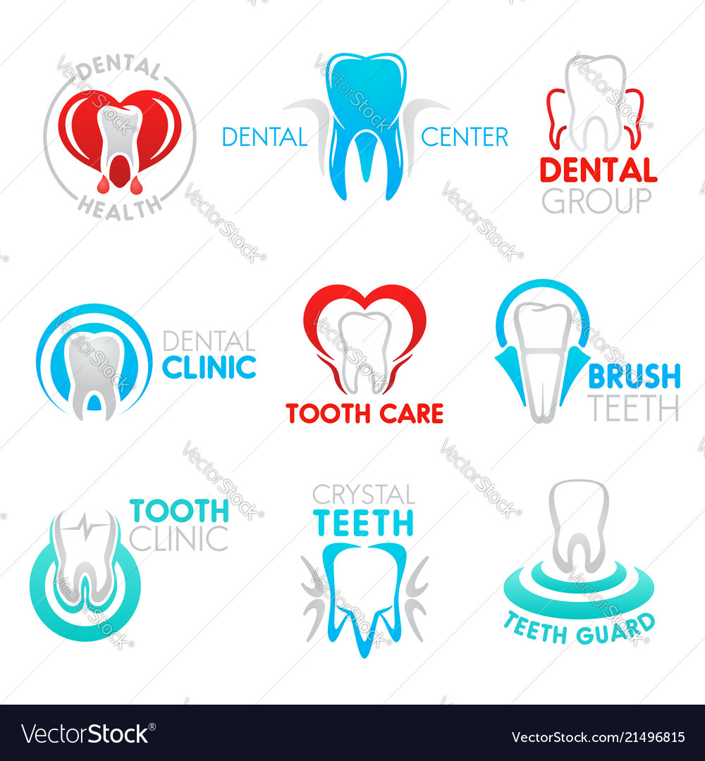Dental clinic and dentistry symbol with tooth