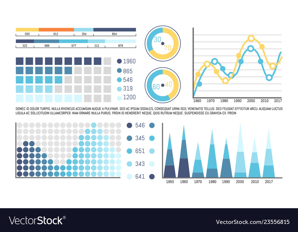 Infographics with timeline and visual information
