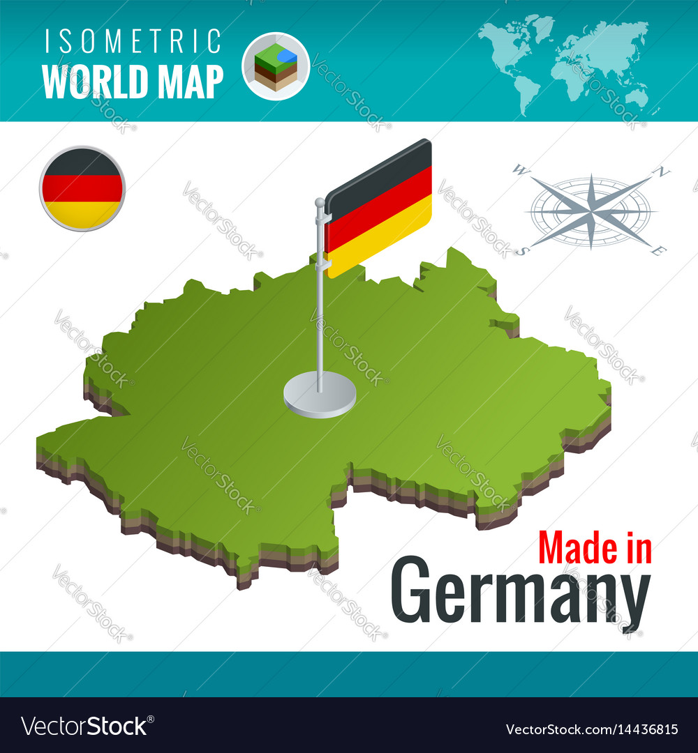 Isometric map and flag germany or