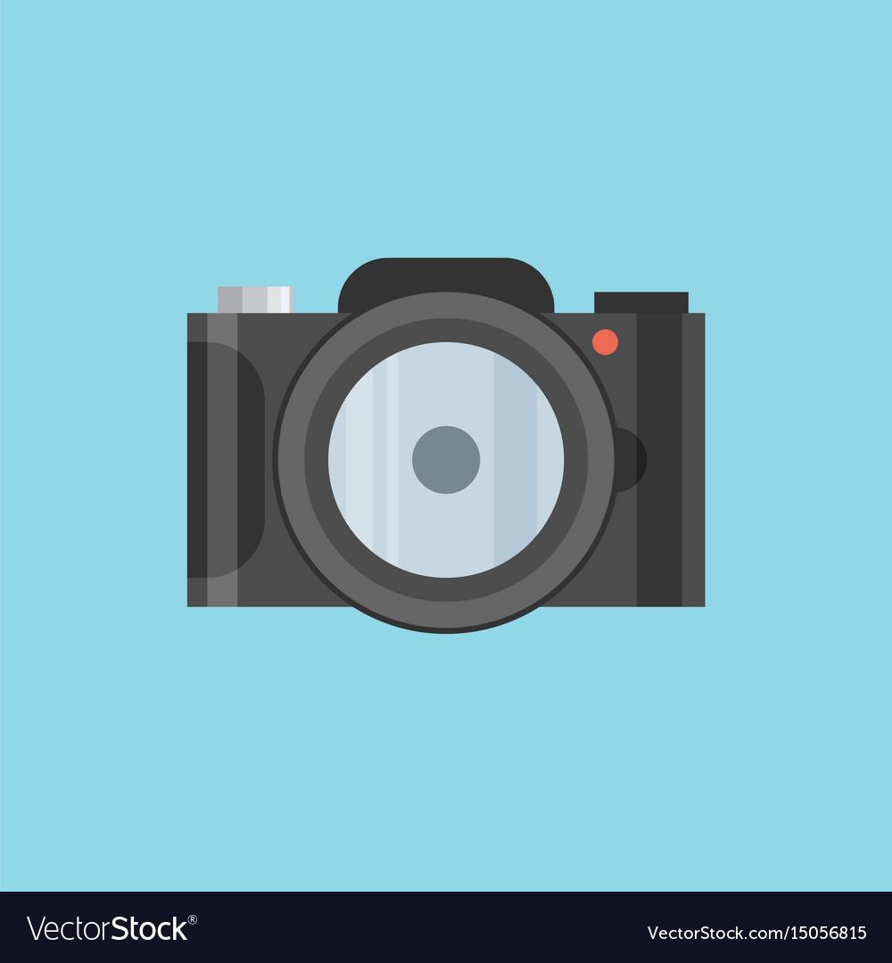 Photo camera icon modern minimal flat design style
