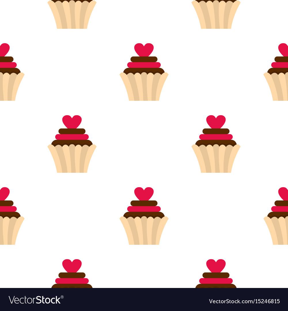Valentine cupcake pattern seamless