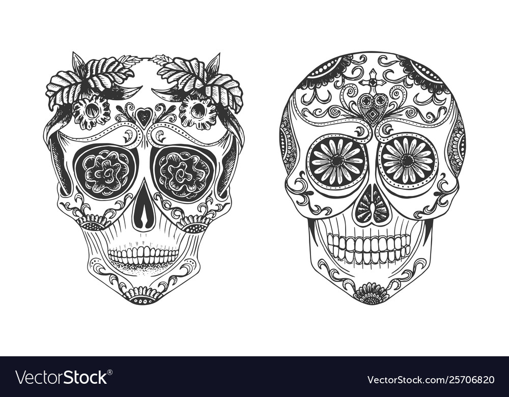 Cranium with calavera decor symbol