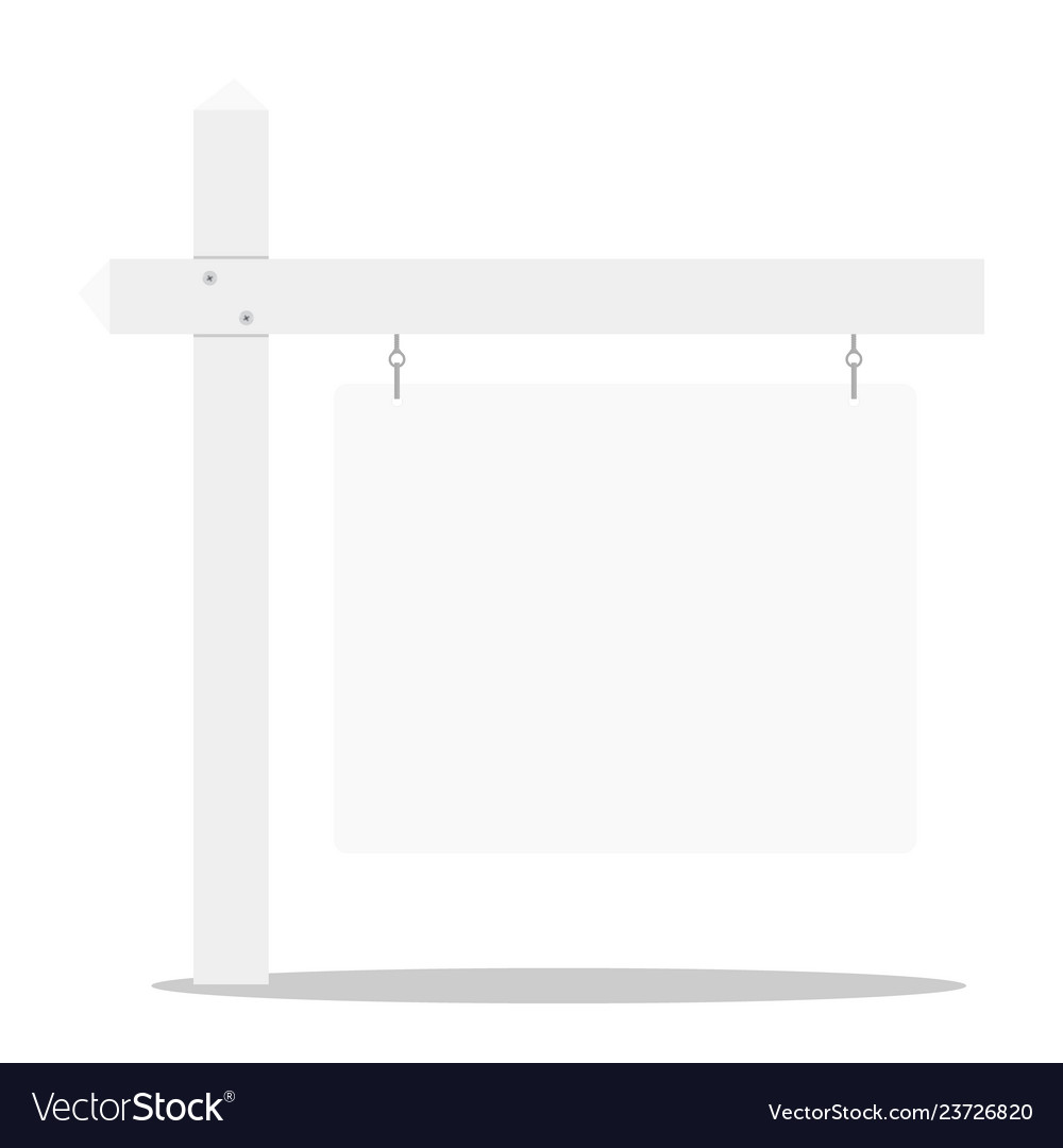 Detailed of a blank white real estate sign eps10