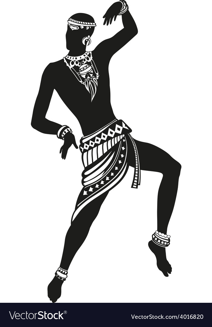 Ethnic dance african man vector image