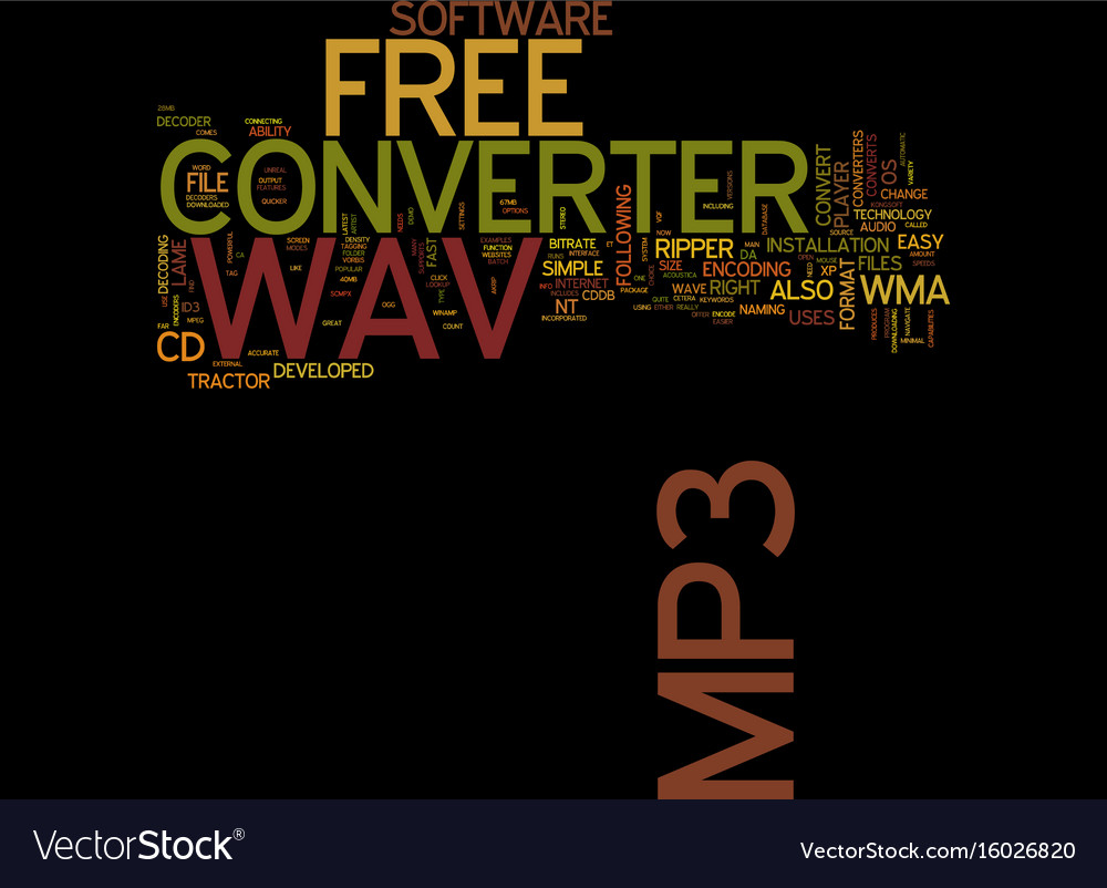 free-wav-to-mp-converter-text-background-word-vector-16026820 Get Inspired For Vector Art Converter Free @koolgadgetz.com.info