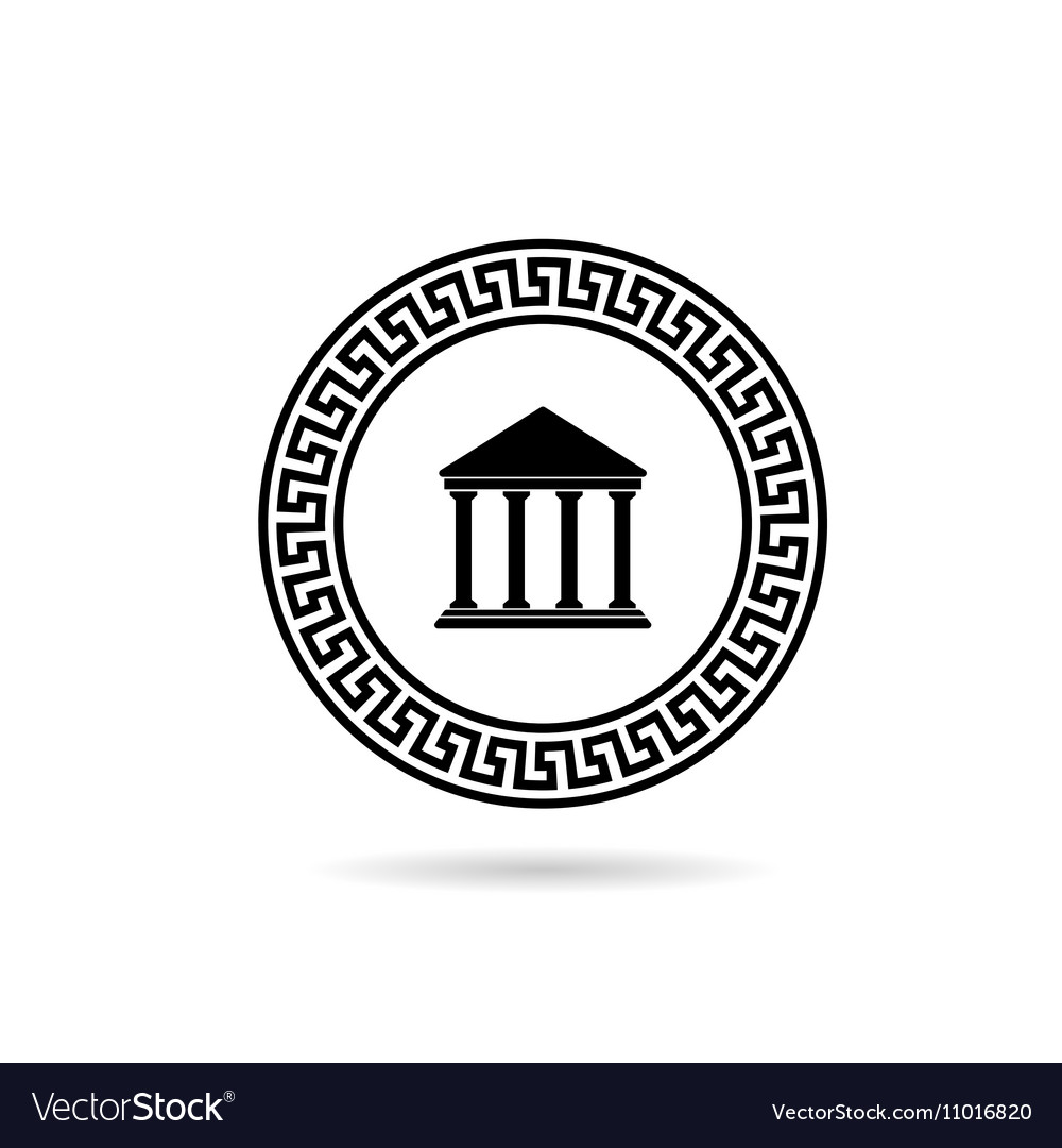 0335b4ff510 Greek icon paradise in black color Royalty Free Vector Image