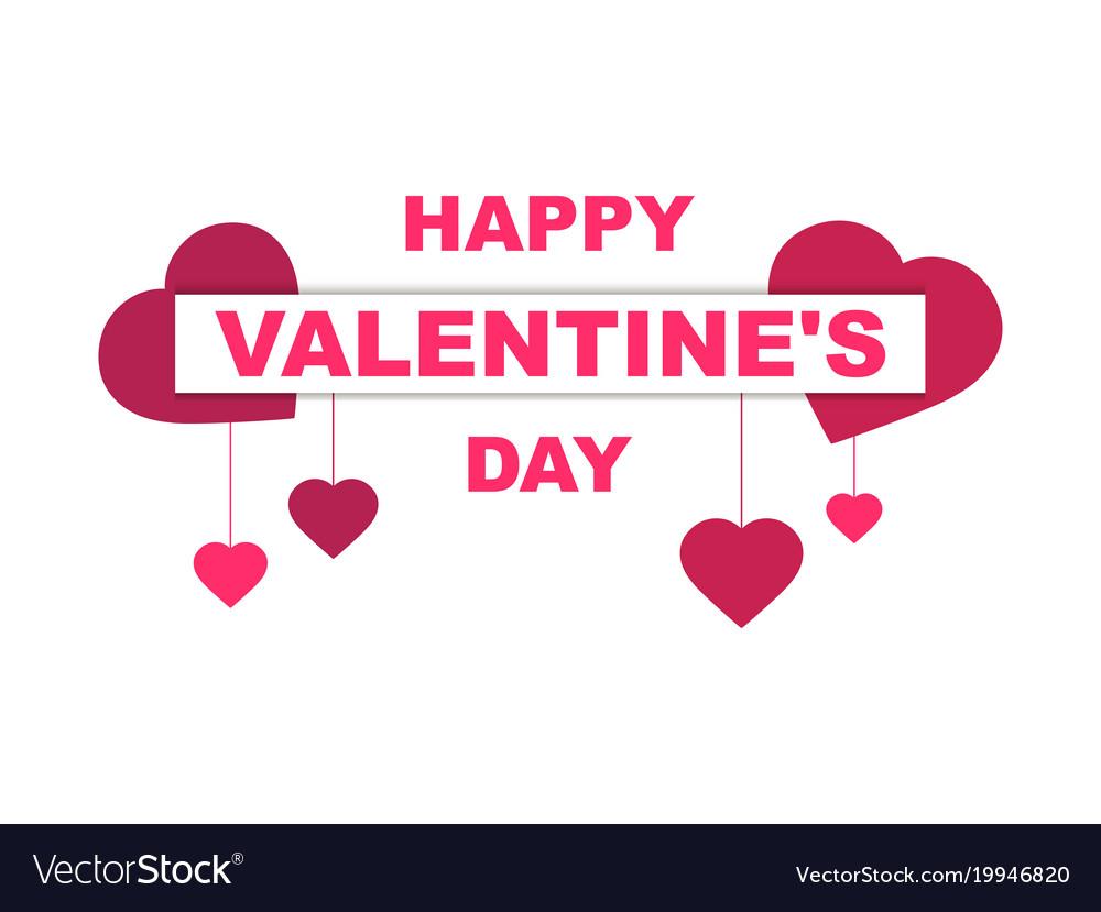 Happy valentines day festive background