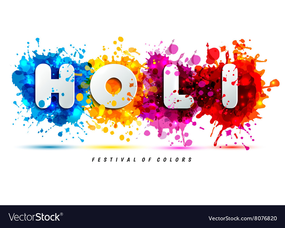 Holi Spring Festival Of Colors Design Element And