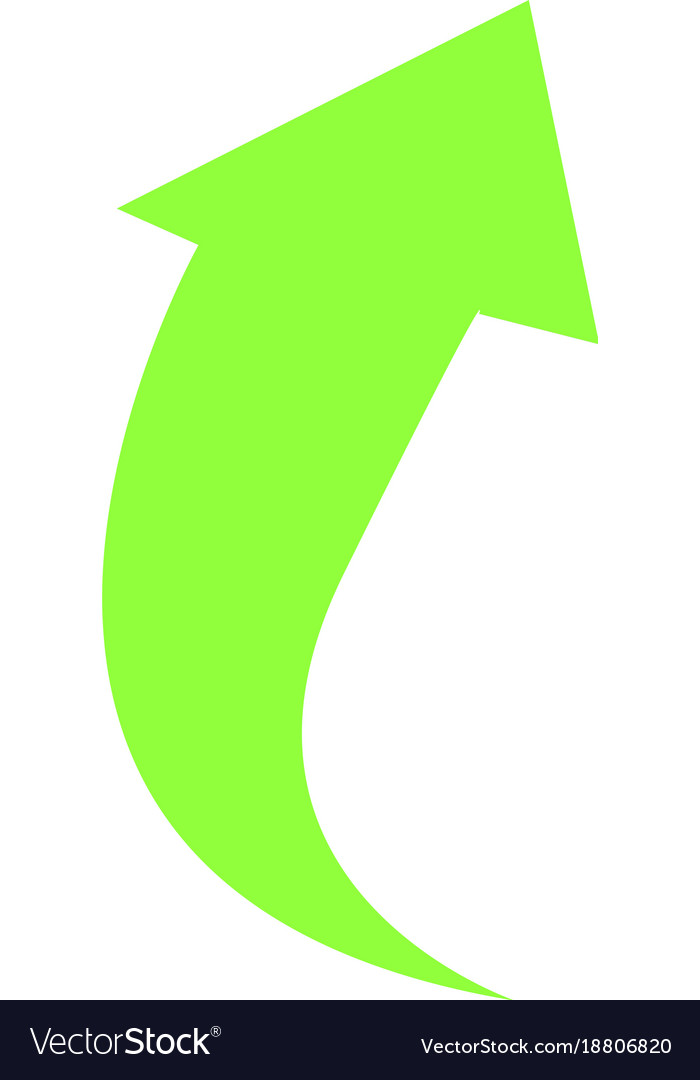 Isolated arrow up