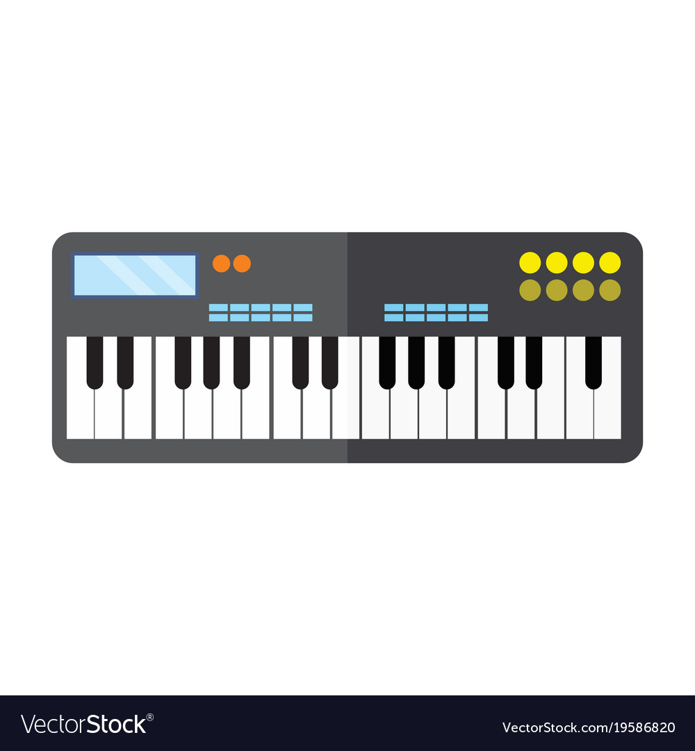 Keyboard piano instrument graphic
