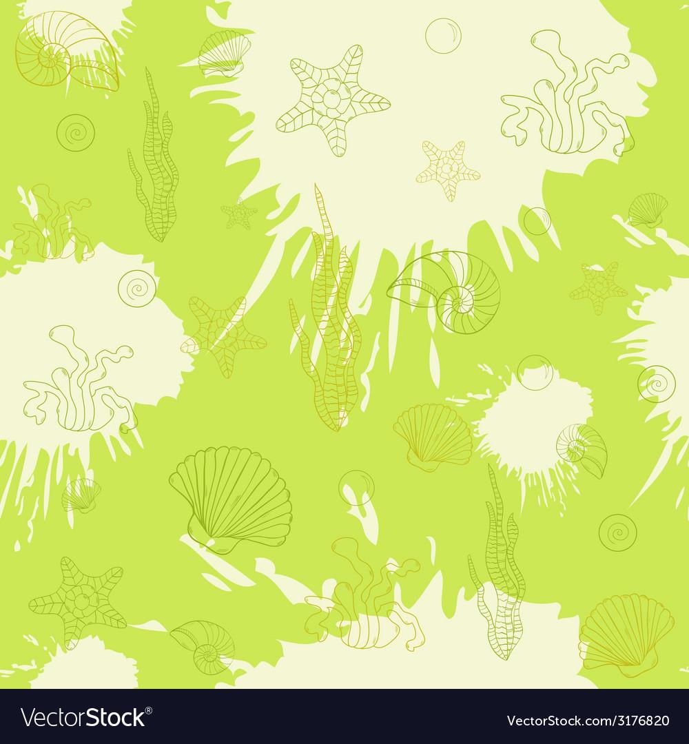 Marine algaeseamless pattern green
