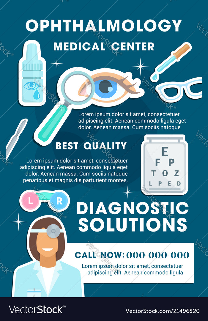 Ophthalmology medical clinic banner design