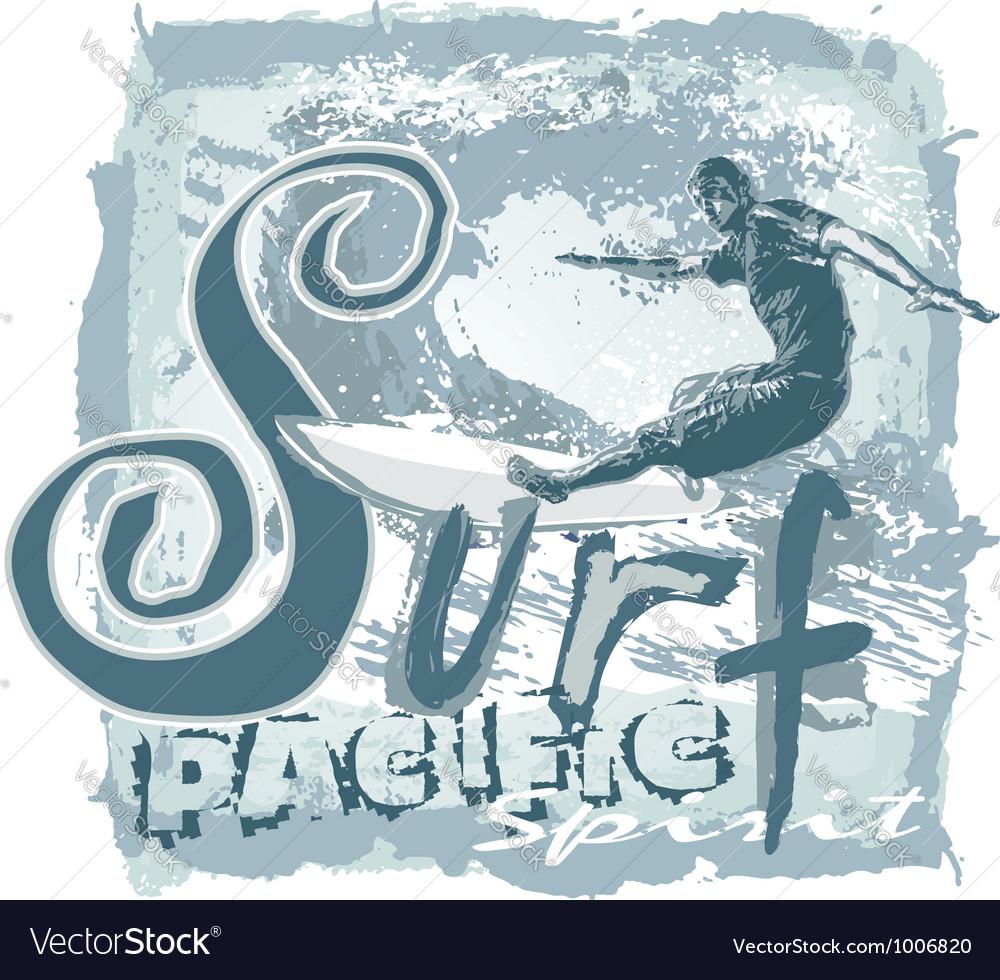Surf pacific spirit vector image