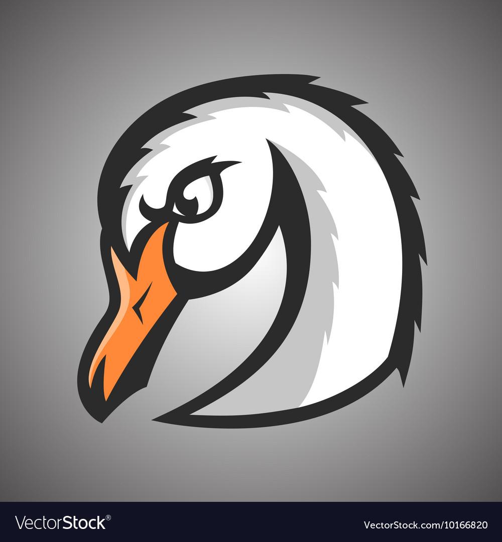 White swan Sport mascot
