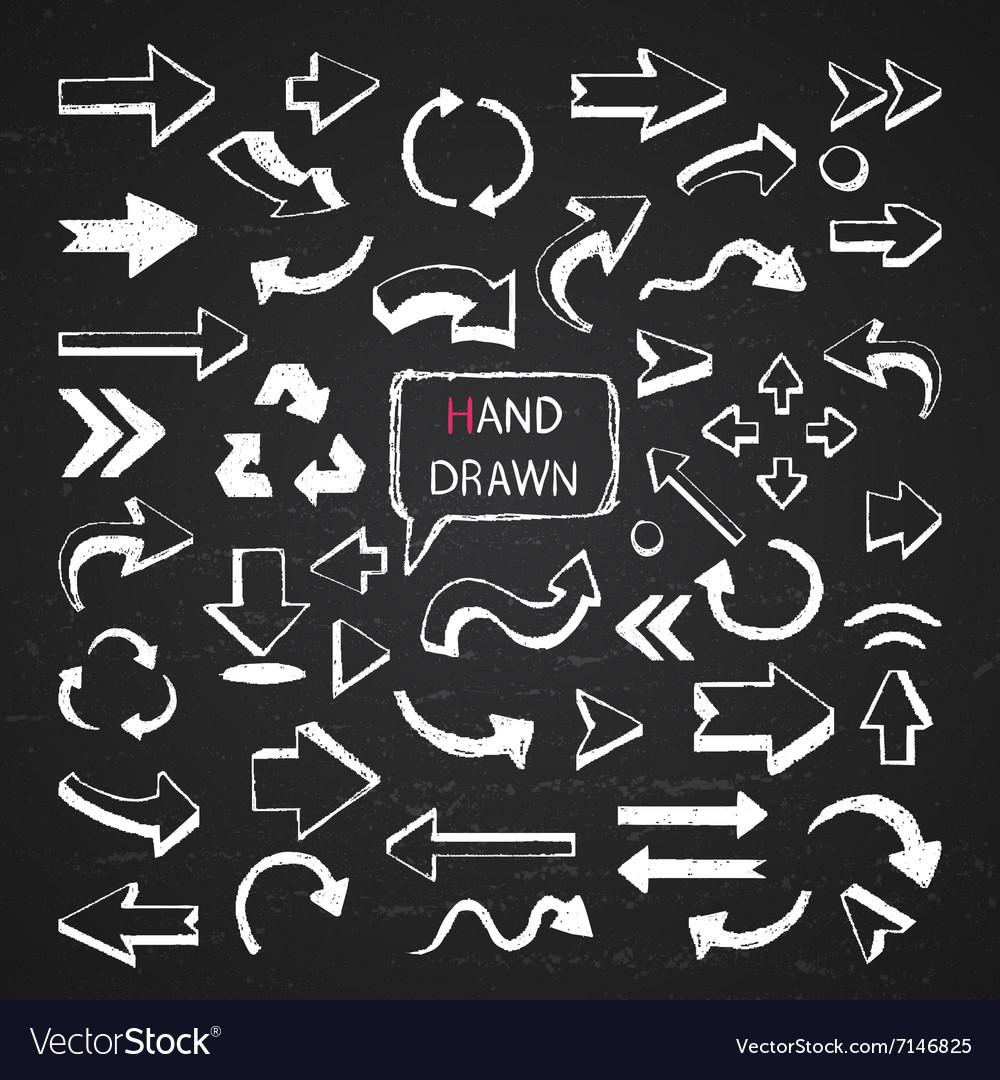 Arrows on a chalkboard vector image