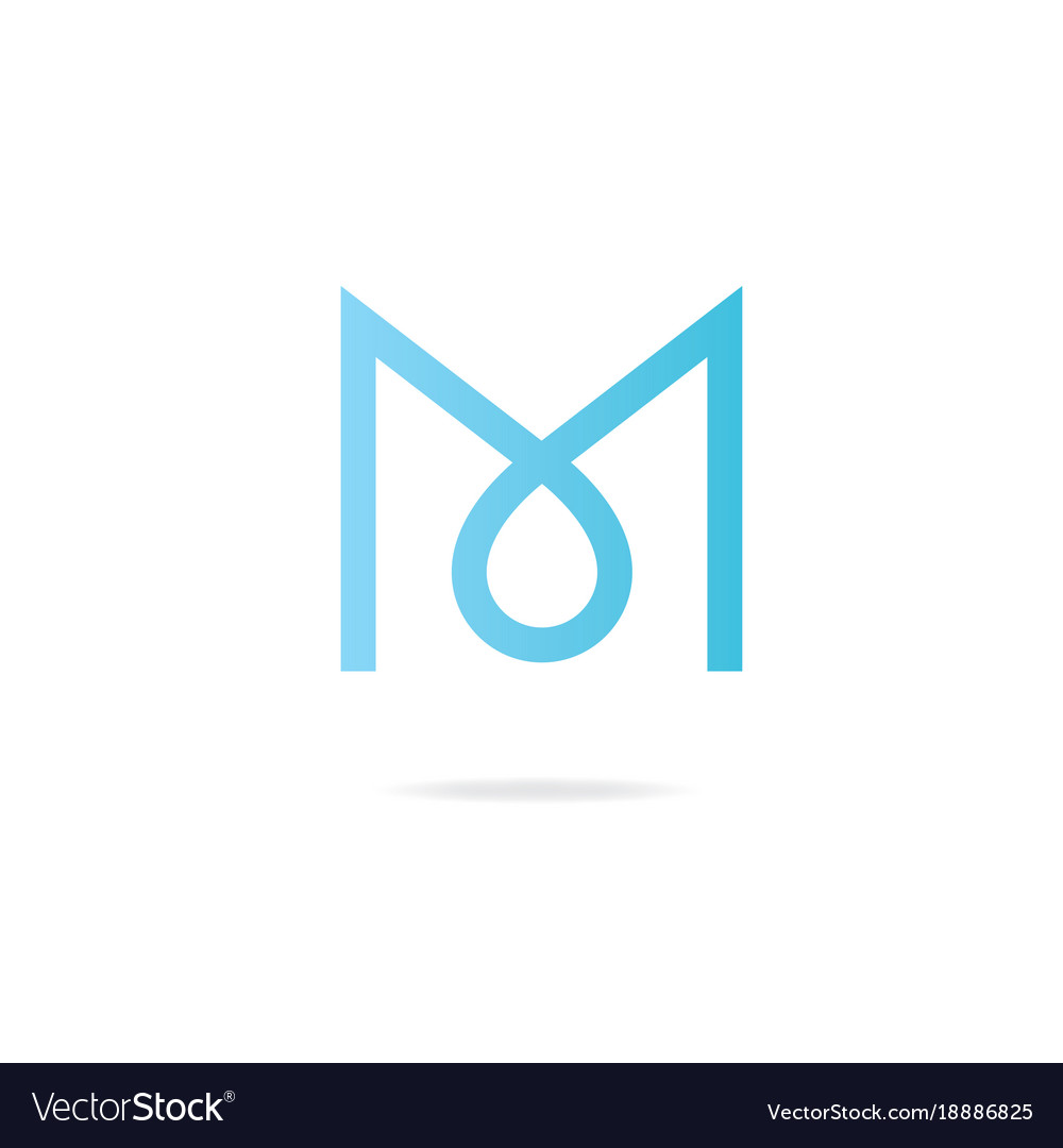 Letter M Logo Design Template Elements Vector Image