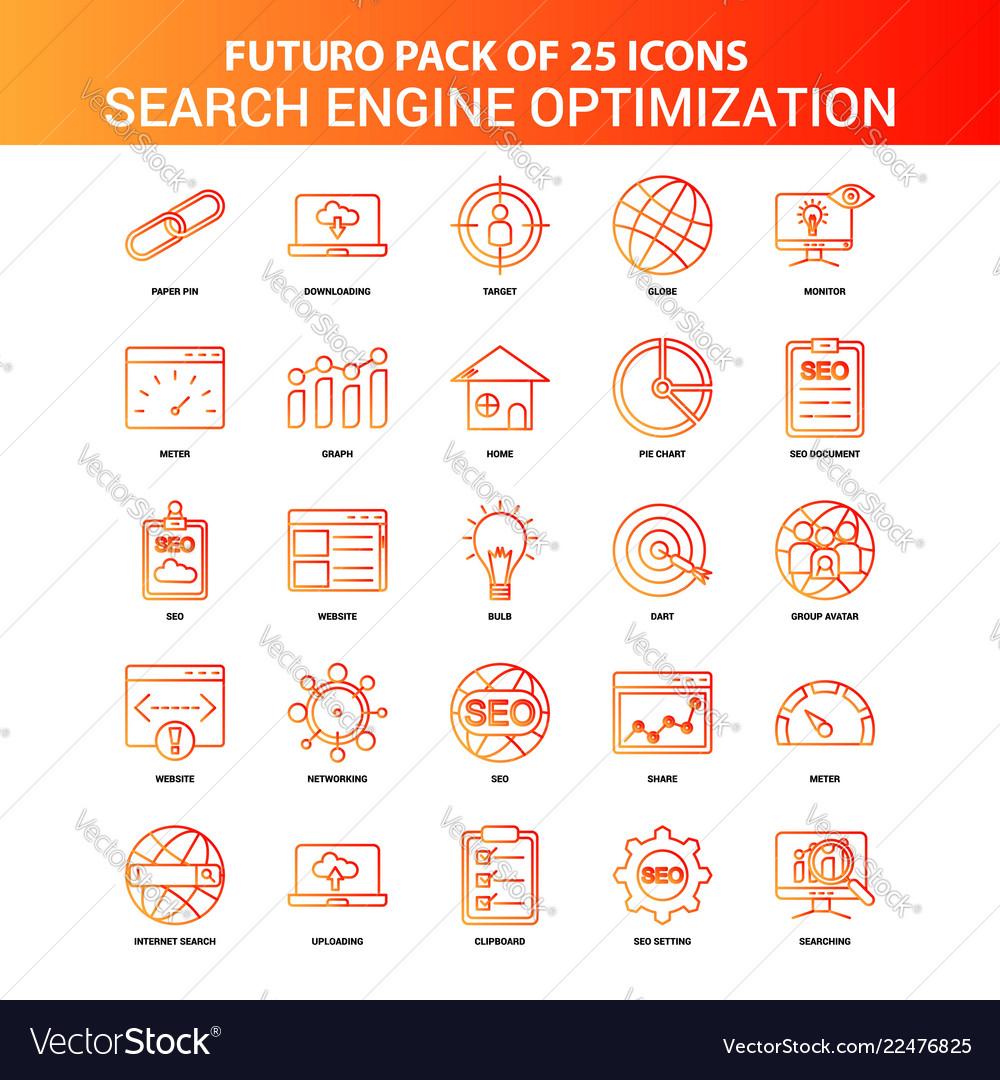 Orange futuro 25 search engine optimization icon