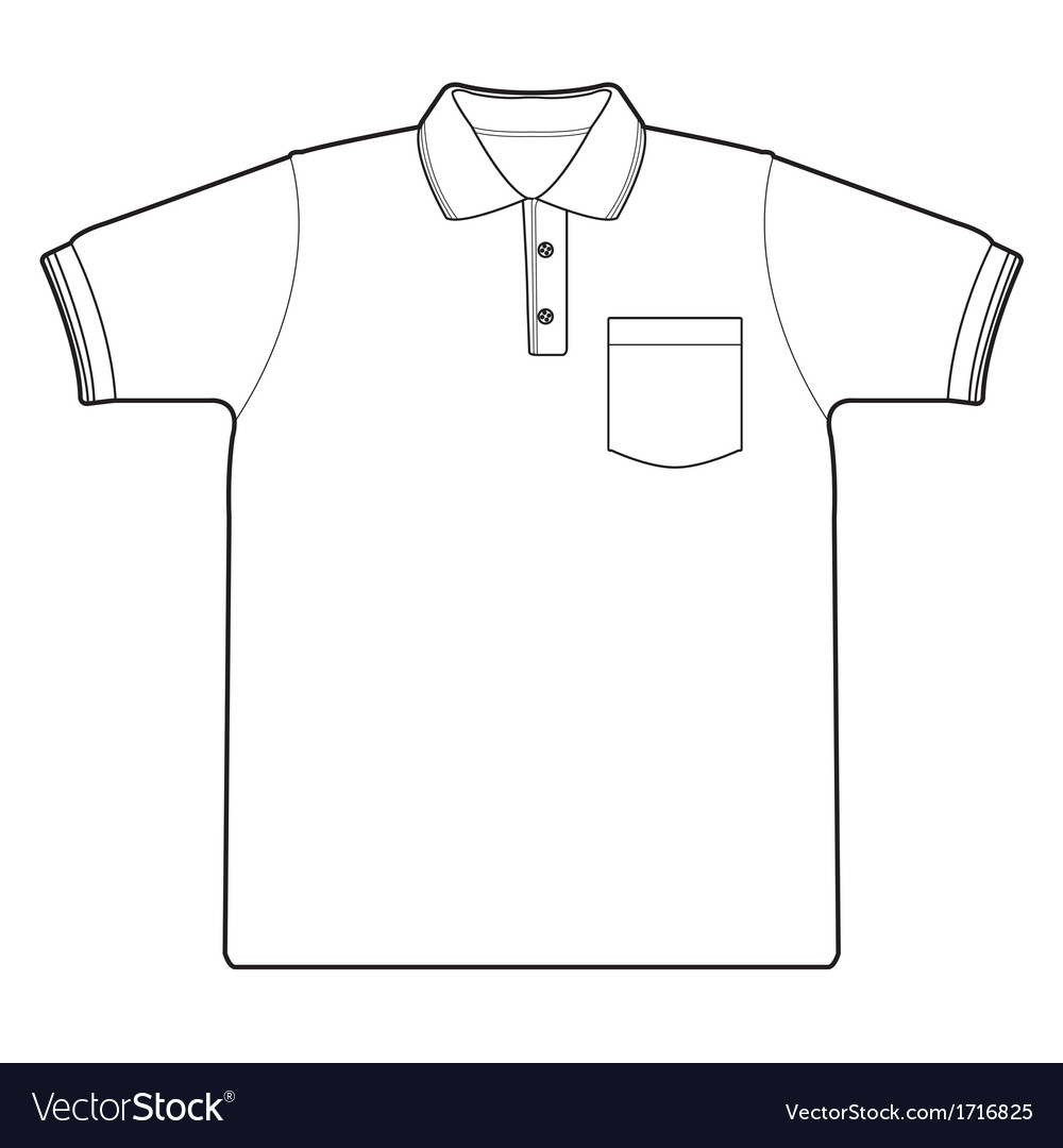 Polo shirt outline vector image