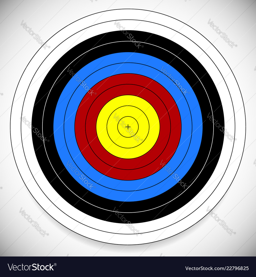 graphic regarding Printable Archery Targets identified as Printable archery arrow aim with cross at