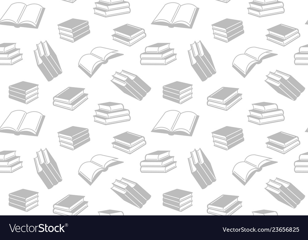 Seamless pattern with open and closed books