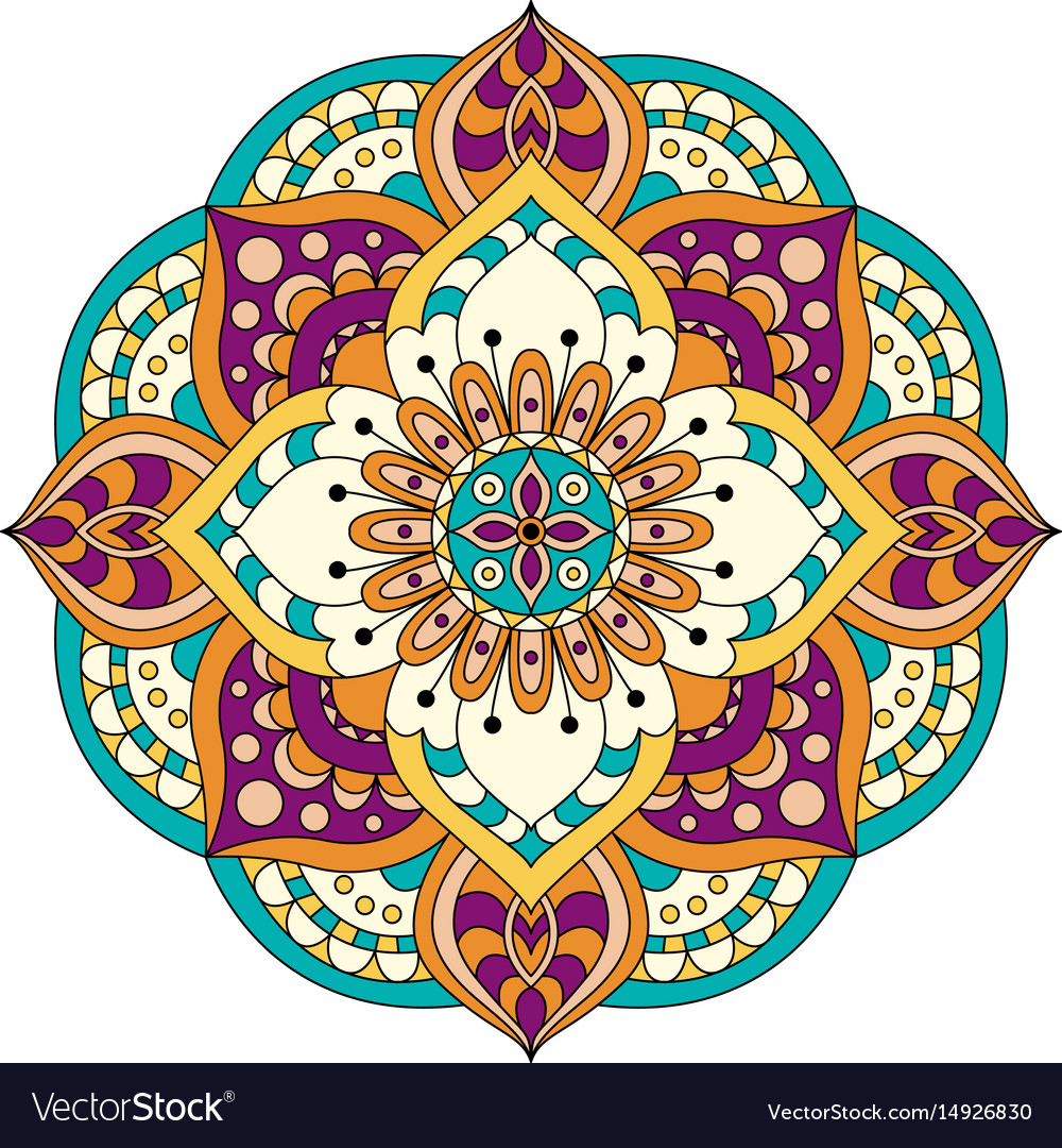 Abstract design elements round mandalas in