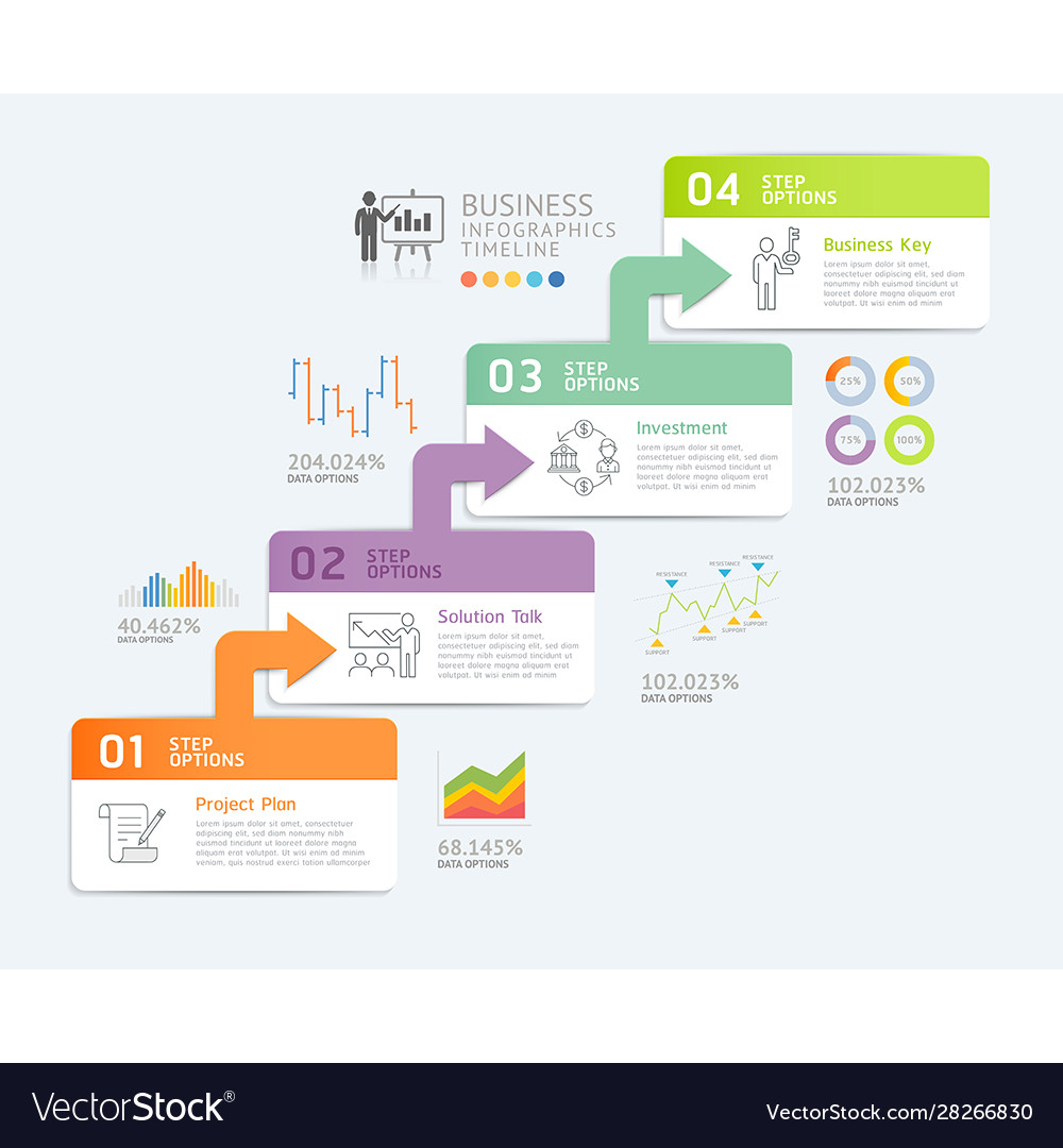 Business infographics design template