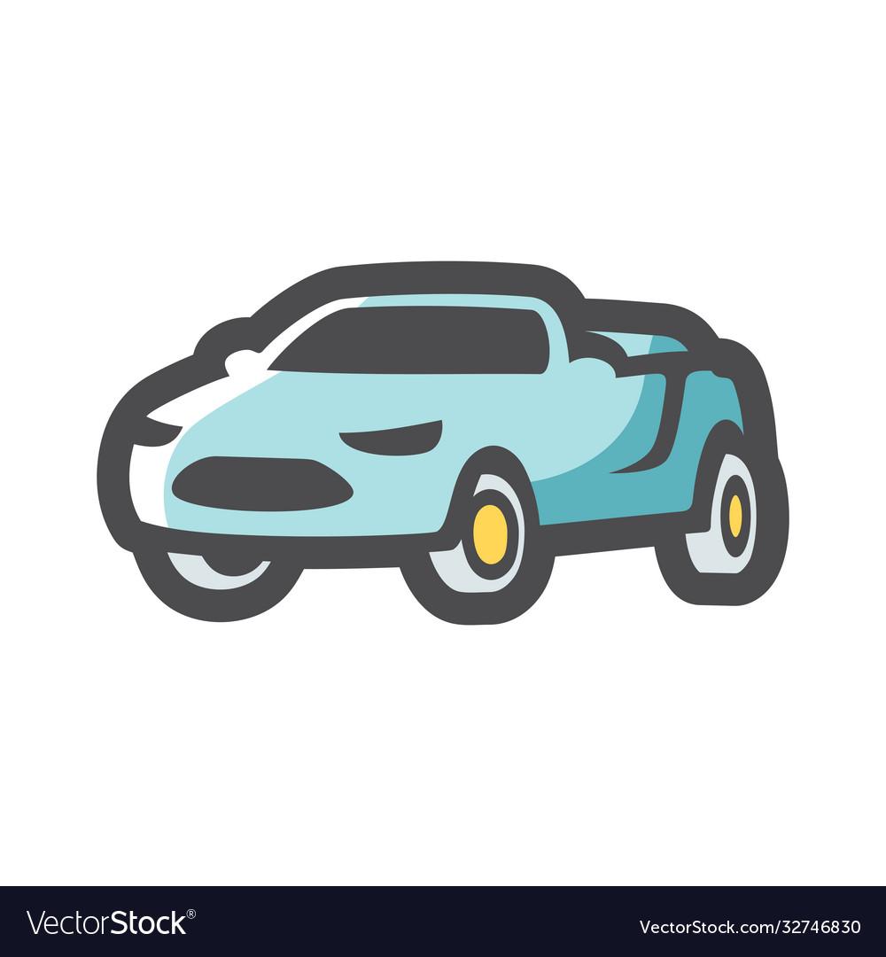 Cabriolet summer luxury car icon cartoon