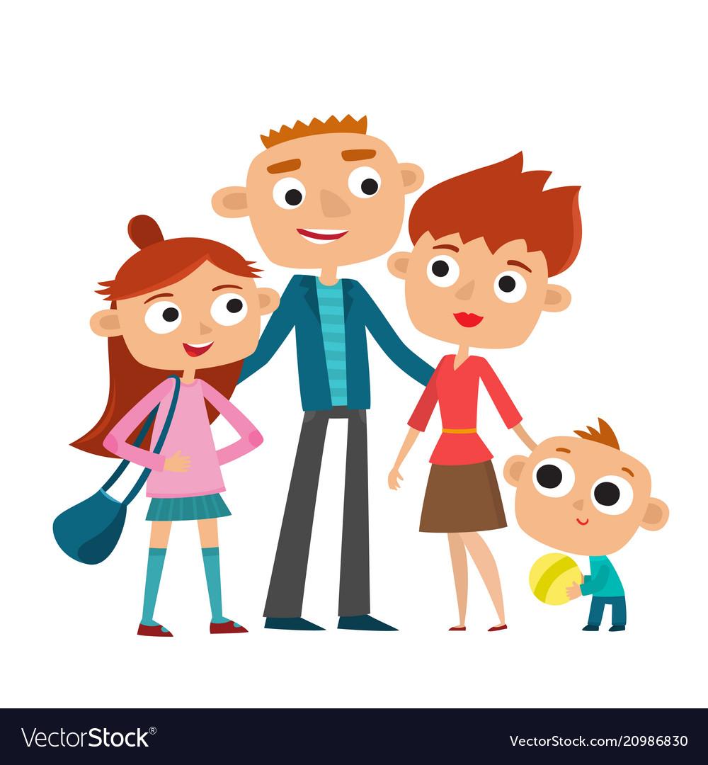 Happy family in love