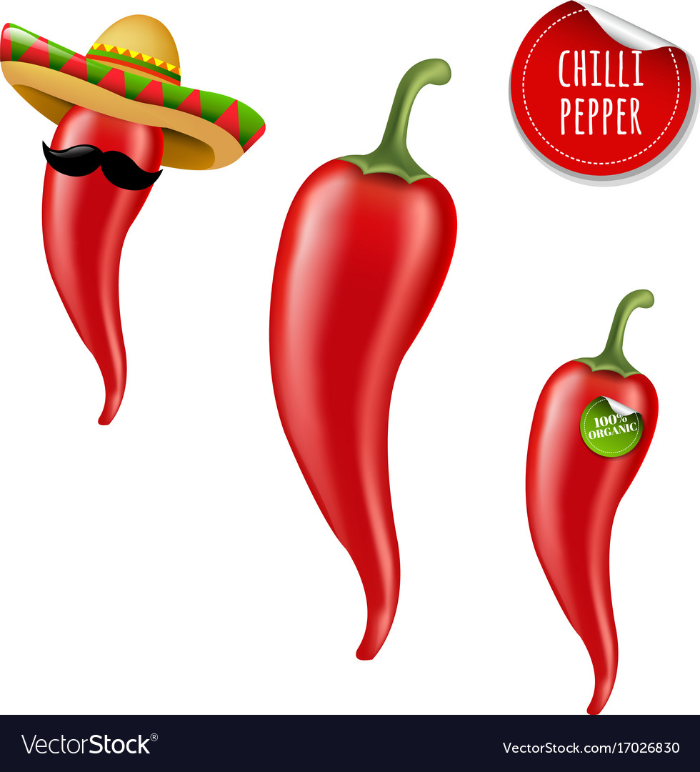 Hot chilli pepper big set