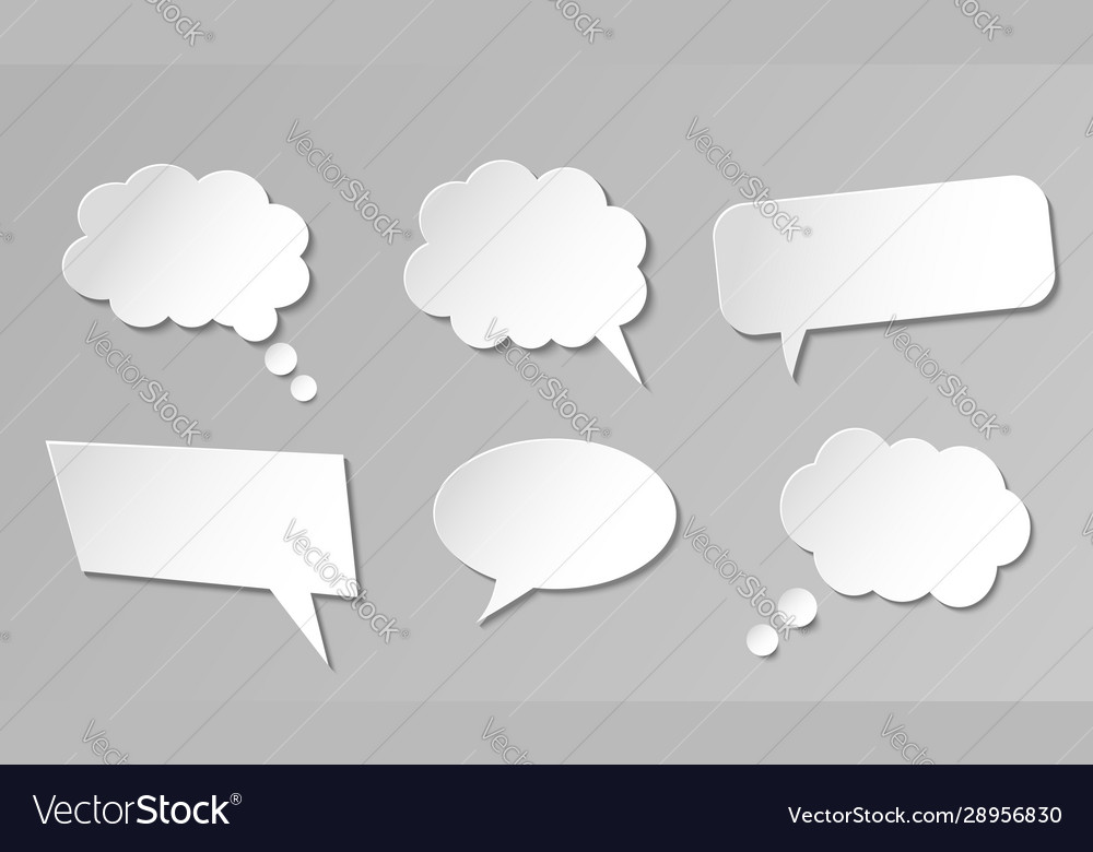 Paper speech bubbles collection