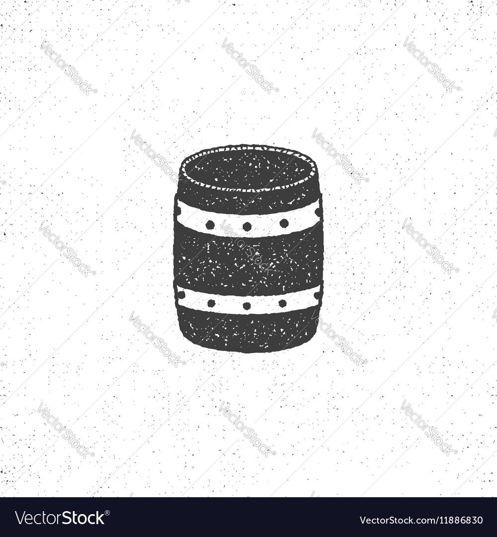 Retro barrel icon isolated on white background