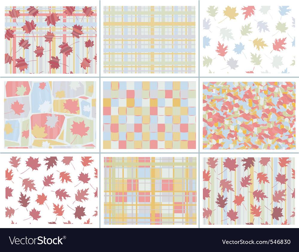 Seamless autumn patterns