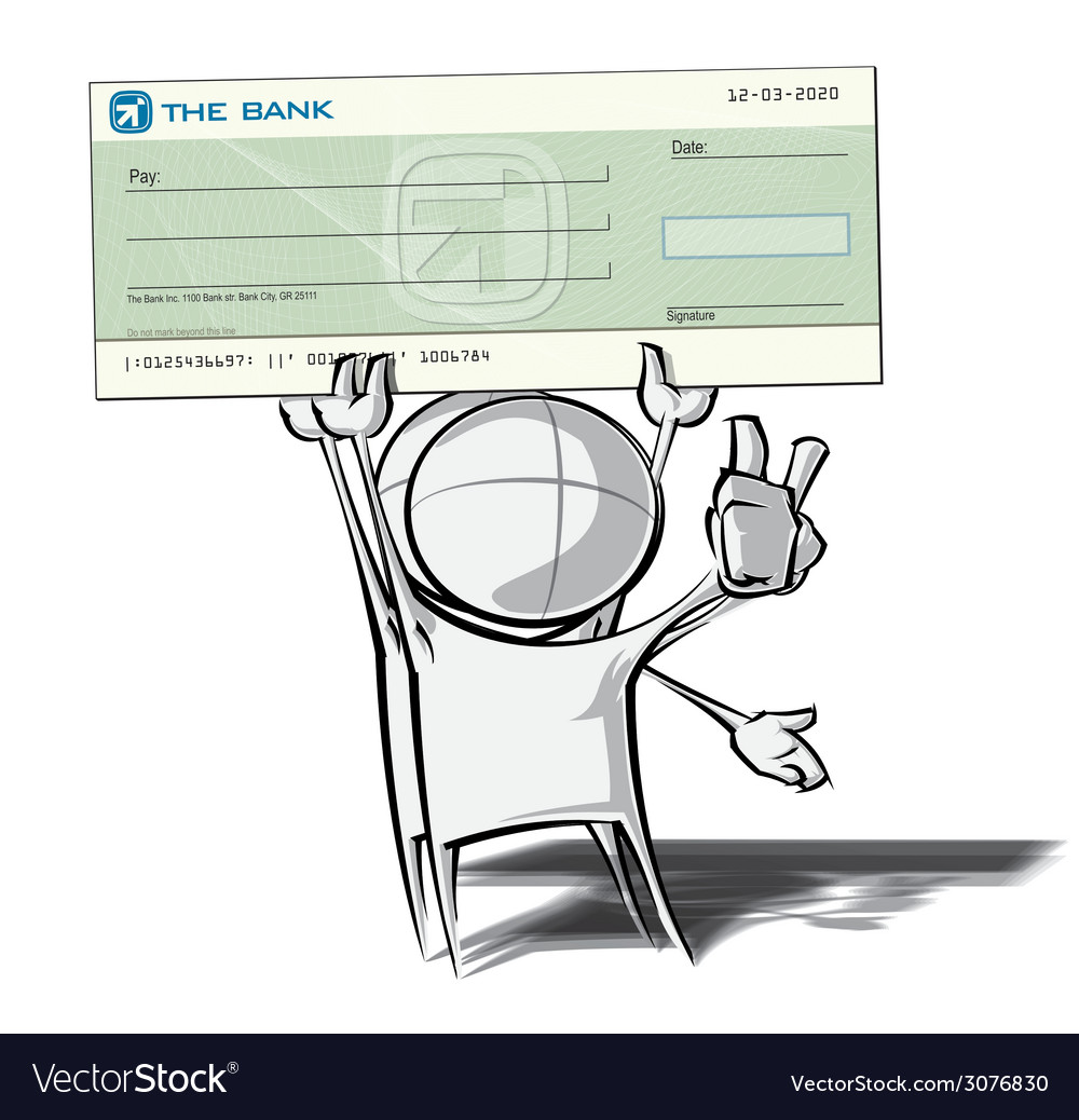 Simple People Check vector image