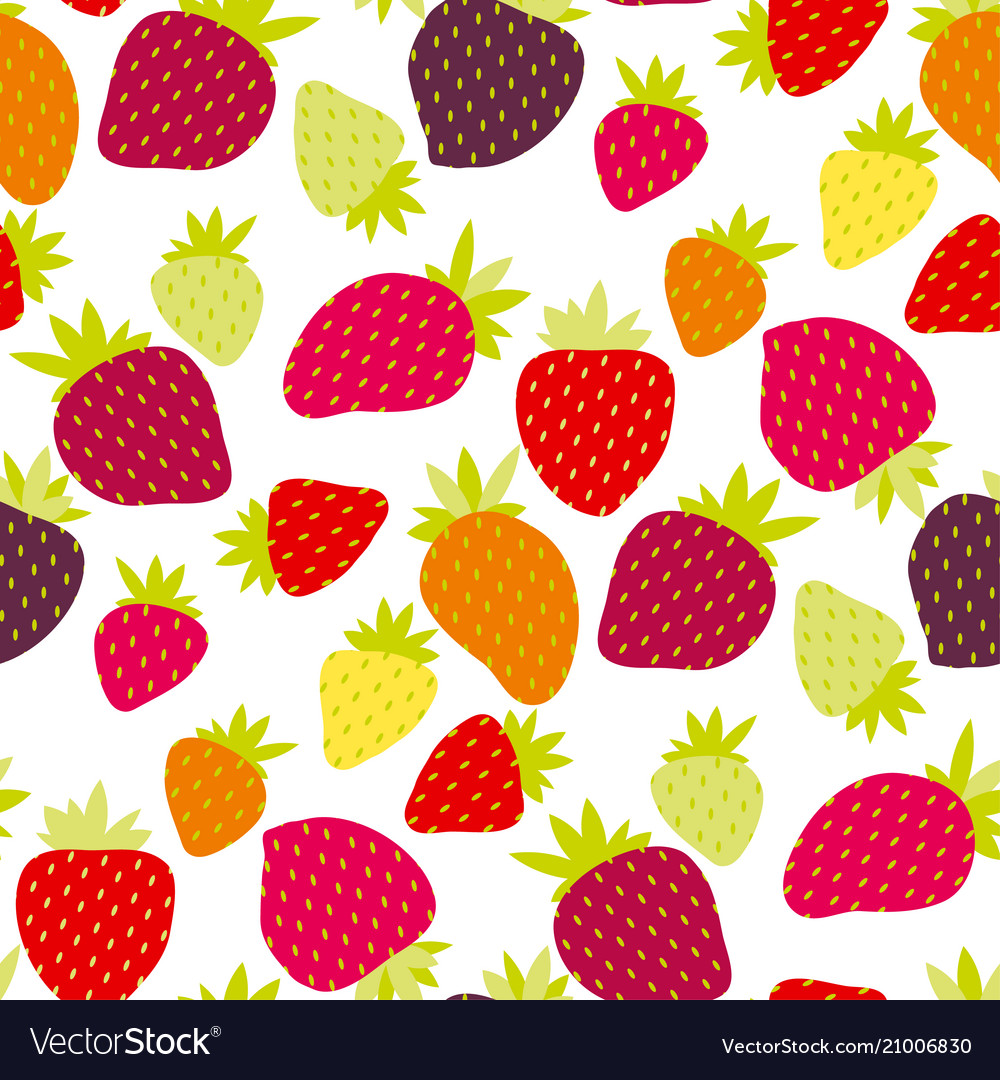 Simple strawberry seamless pattern