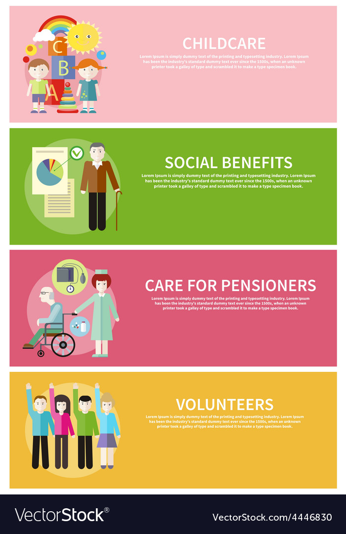 Volonteer Childcare Care Pensioners Social Benefit