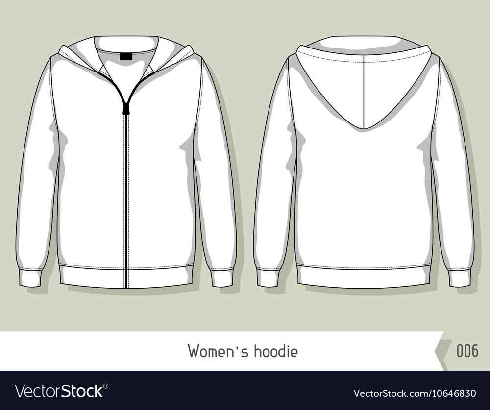 Women hoodie Template for design easily editable