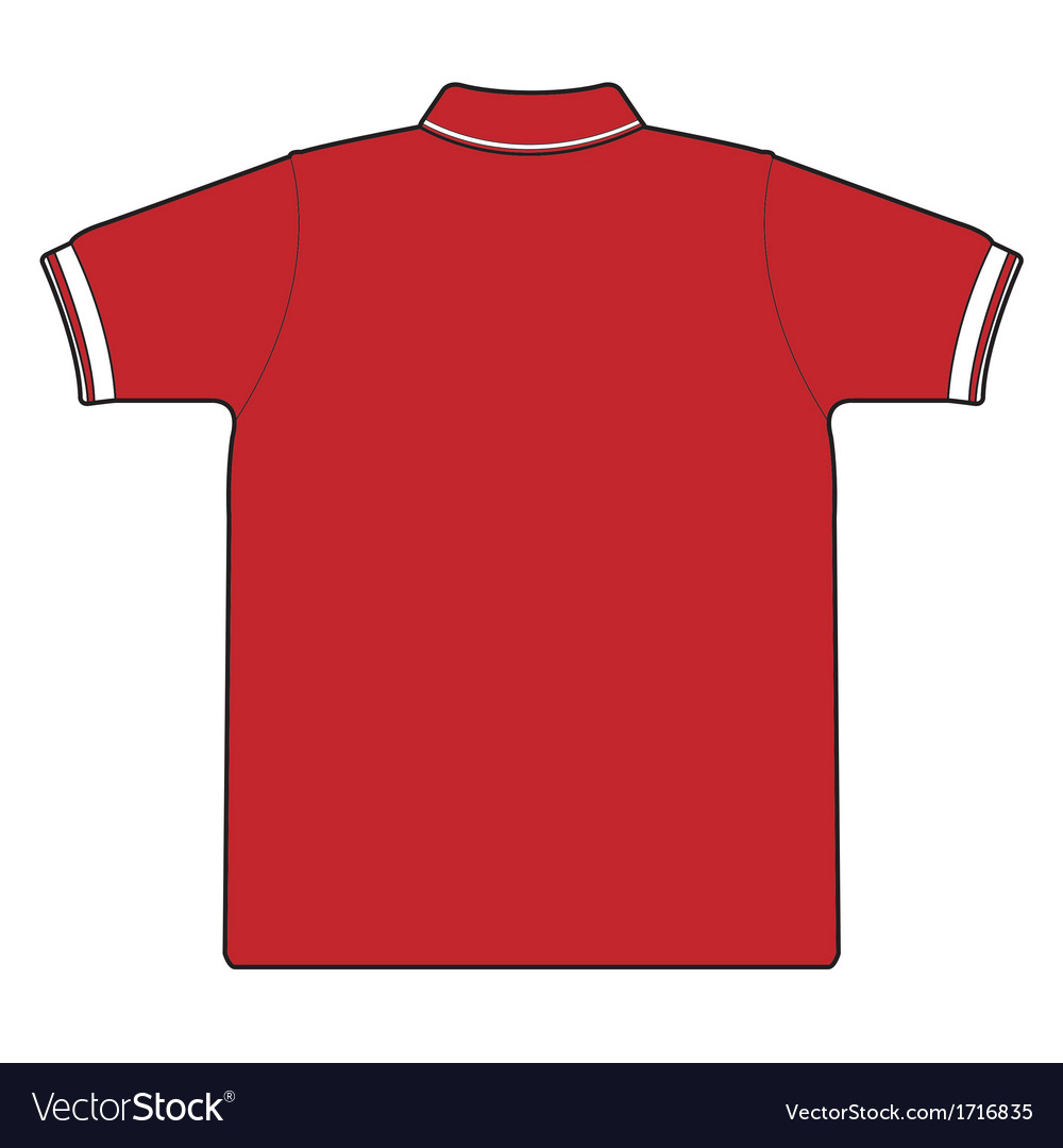 Back side of polo shirt vector image
