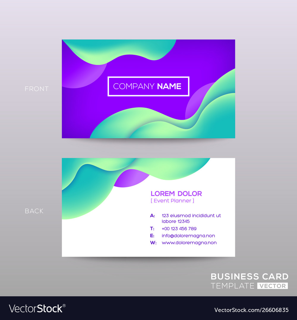 Business card with abstract violet background