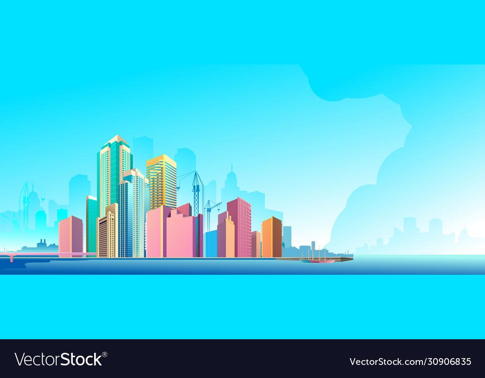 City landscape horizontal day