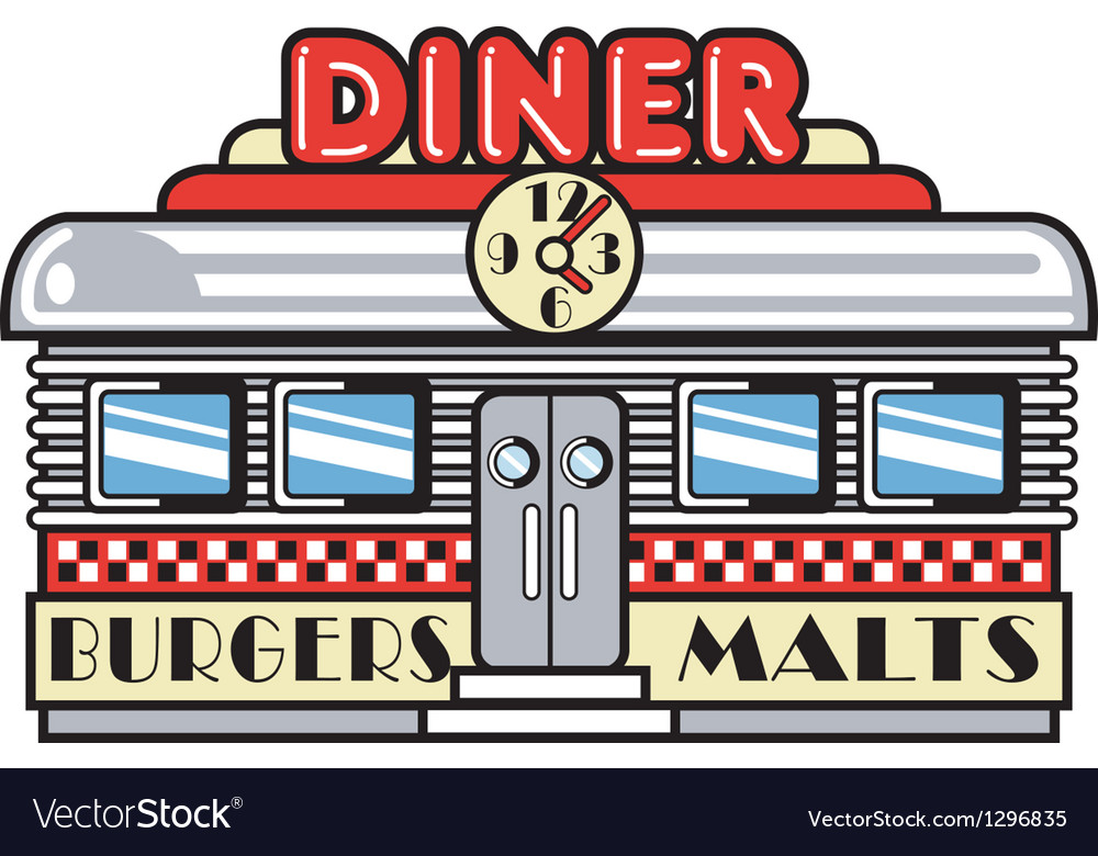 Diner vector image