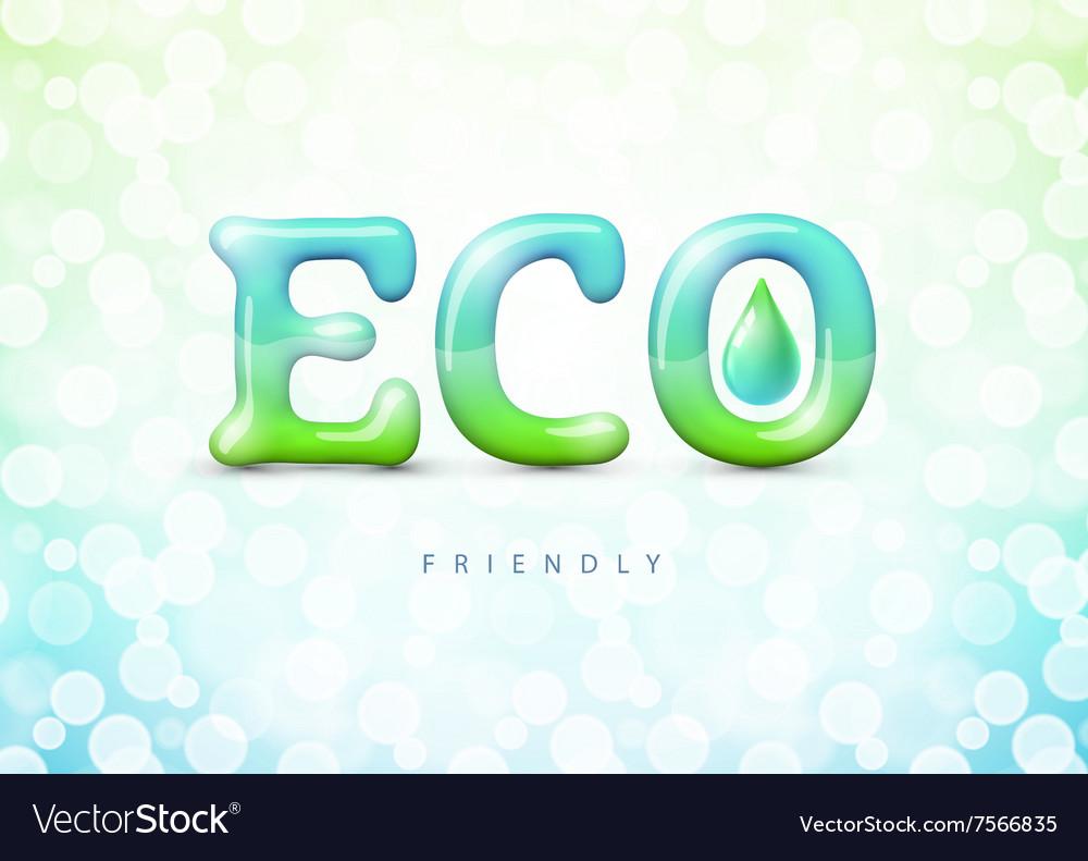 Eco friendly label Gradient Mesh EPS10