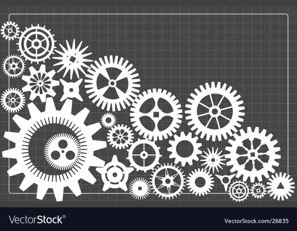 Gearwheels background vector image