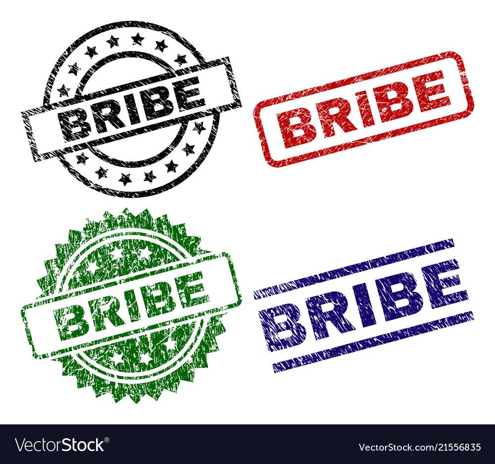Grunge textured bribe seal stamps