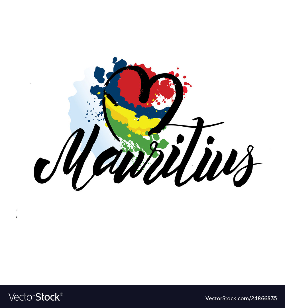 Mauritius country flag concept with grunge design