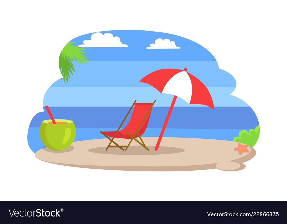 Seaside sunny beach island
