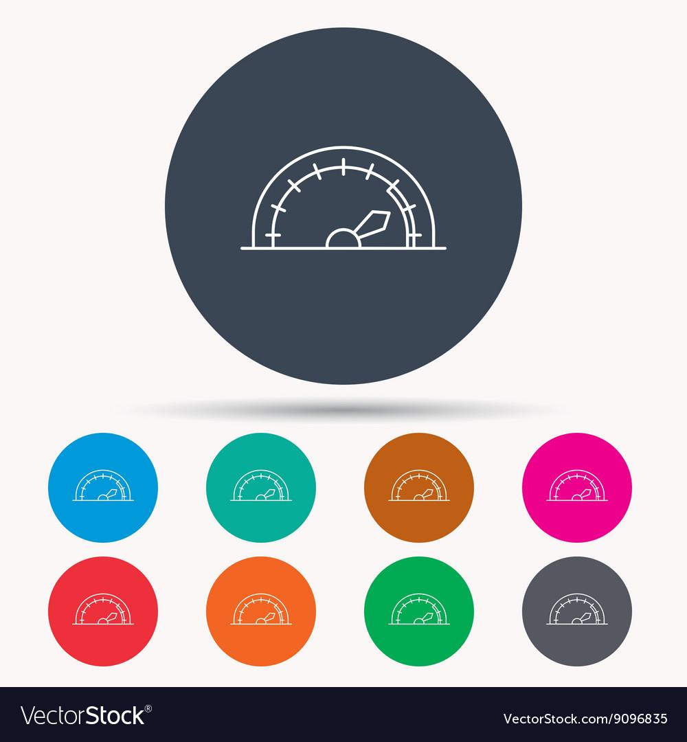 Speedometer icon Speed tachometer with arrow vector image