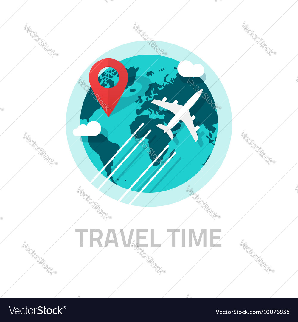 Travelling around world by plane travel