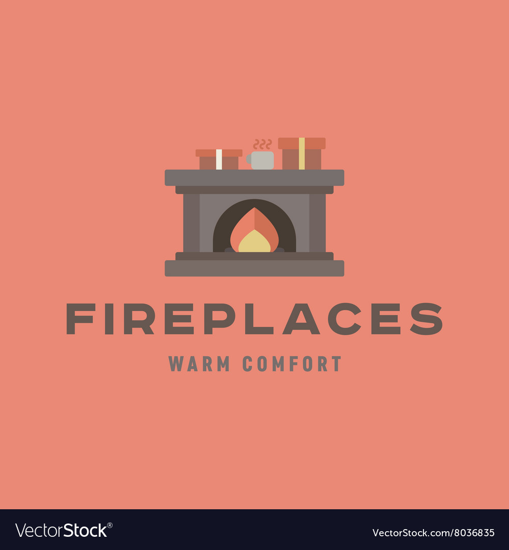 Warm and cozy fireplace of flat